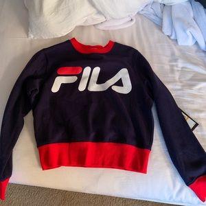 Fila cropped sweatshirt crewneck hoodie
